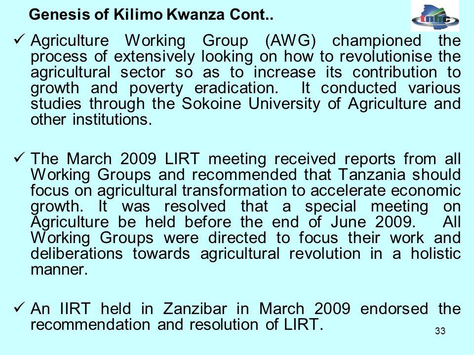 33 Genesis of Kilimo Kwanza Cont..