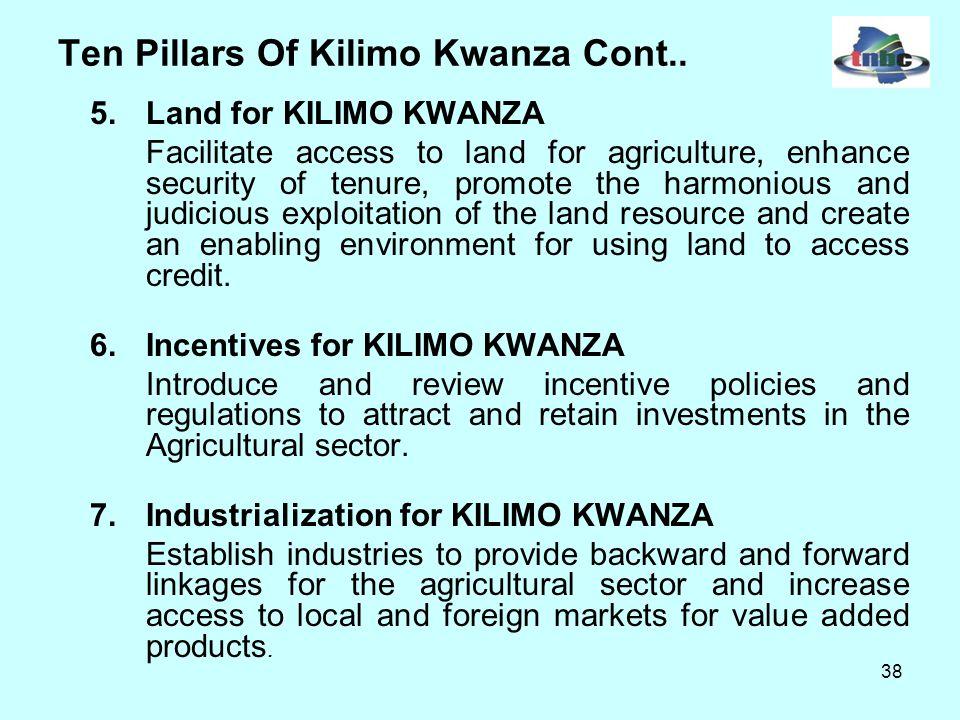 38 Ten Pillars Of Kilimo Kwanza Cont..