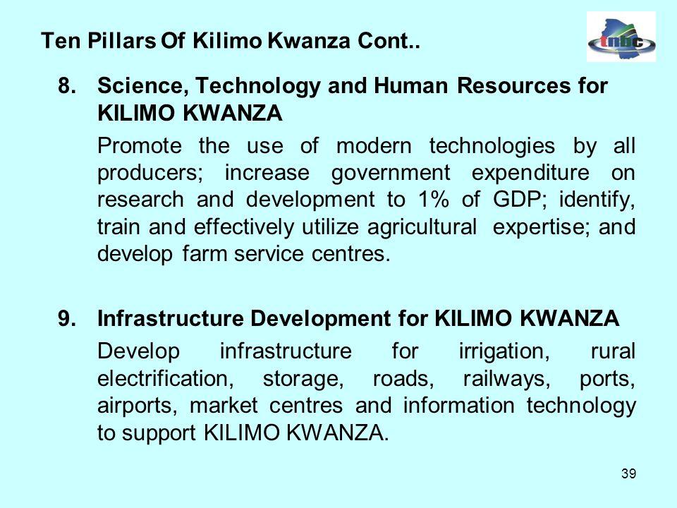 39 Ten Pillars Of Kilimo Kwanza Cont..