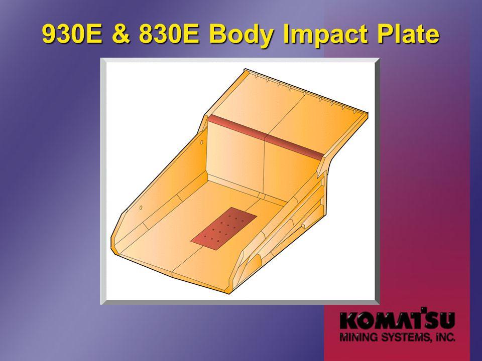 930E & 830E Body Impact Plate