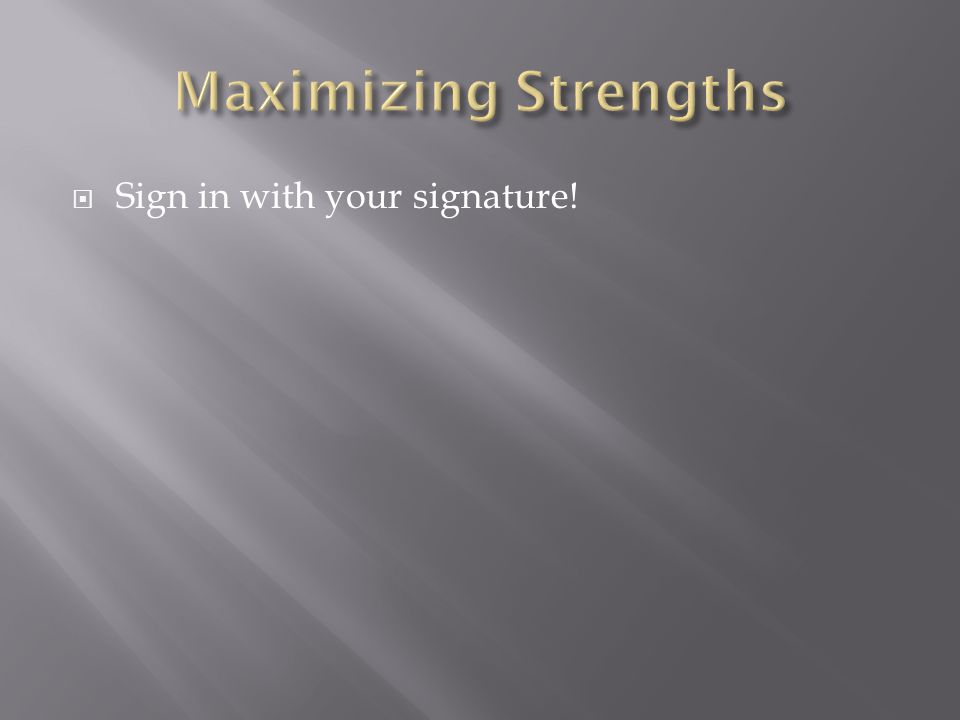  Sign in with your signature!