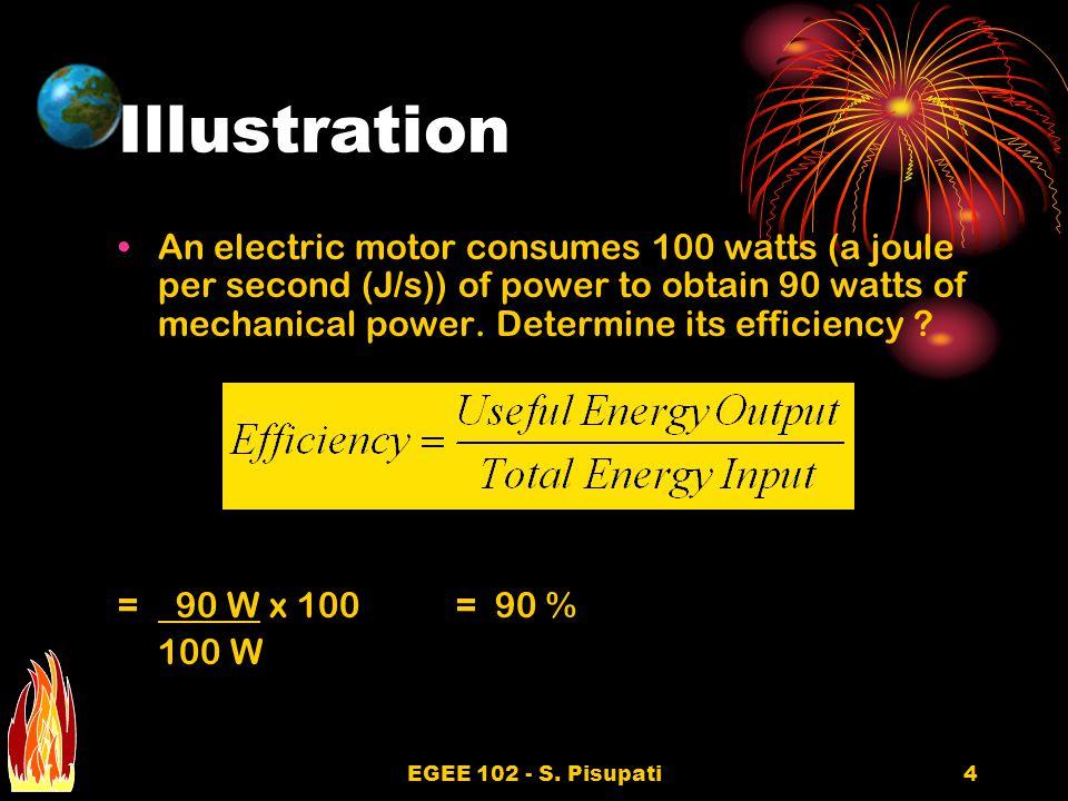 EGEE 102 - S.Pisupati15 Overall Efficiency Cont..