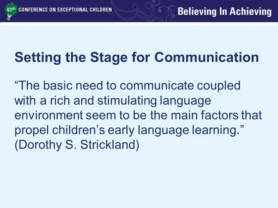 Modeling Scripts Teacher models language and actions appropriate for a given situation Give child basic idea of what to do Align expectations with peers Ensure child is familiar with related vocabulary
