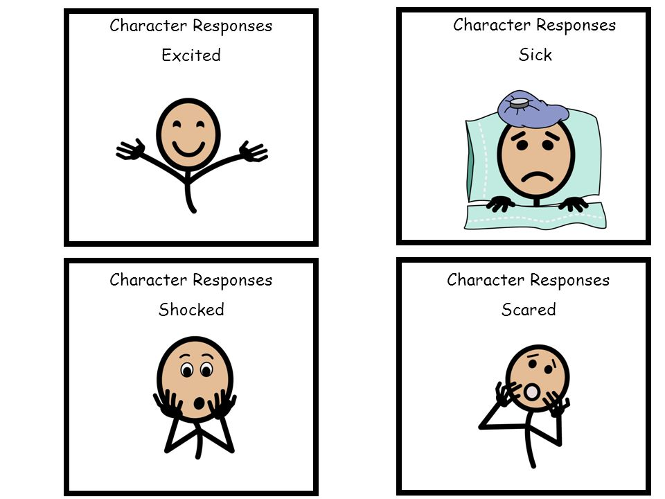 Character Responses Excited Character Responses Sick Character Responses Shocked Character Responses Scared