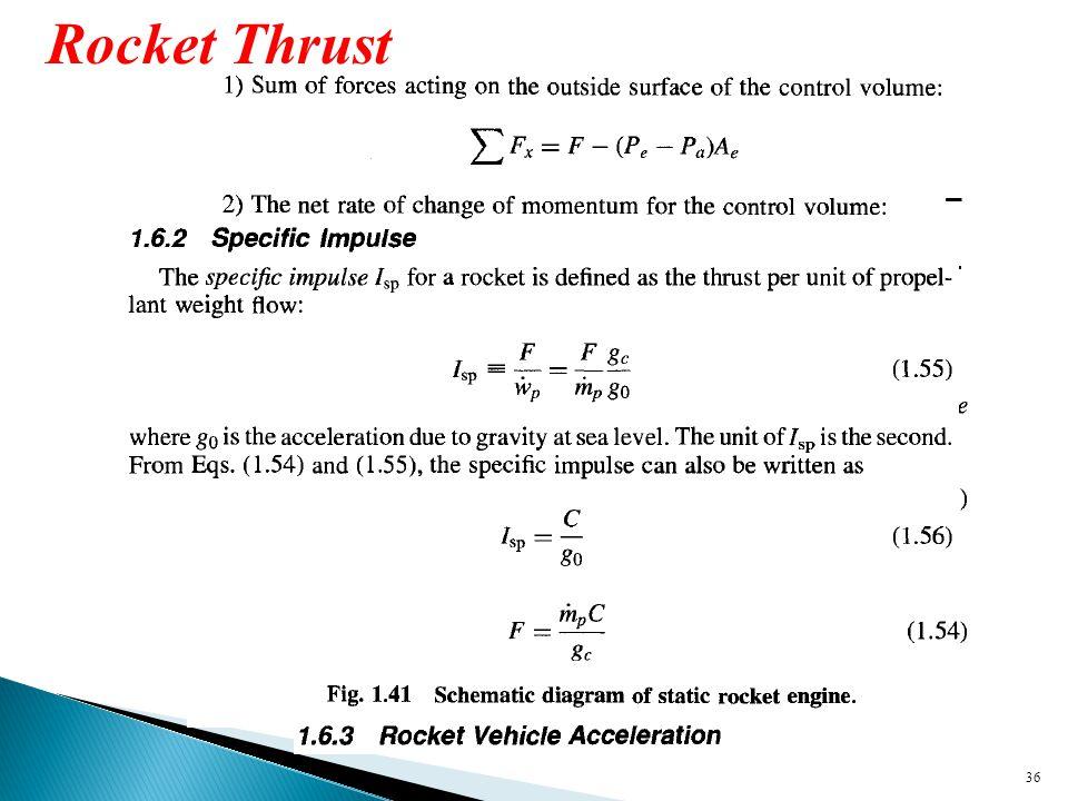 36 Rocket Thrust