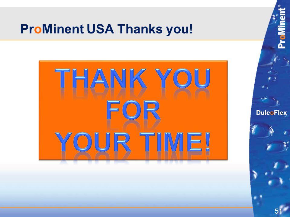 51 DulcoFlex ProMinent USA Thanks you!