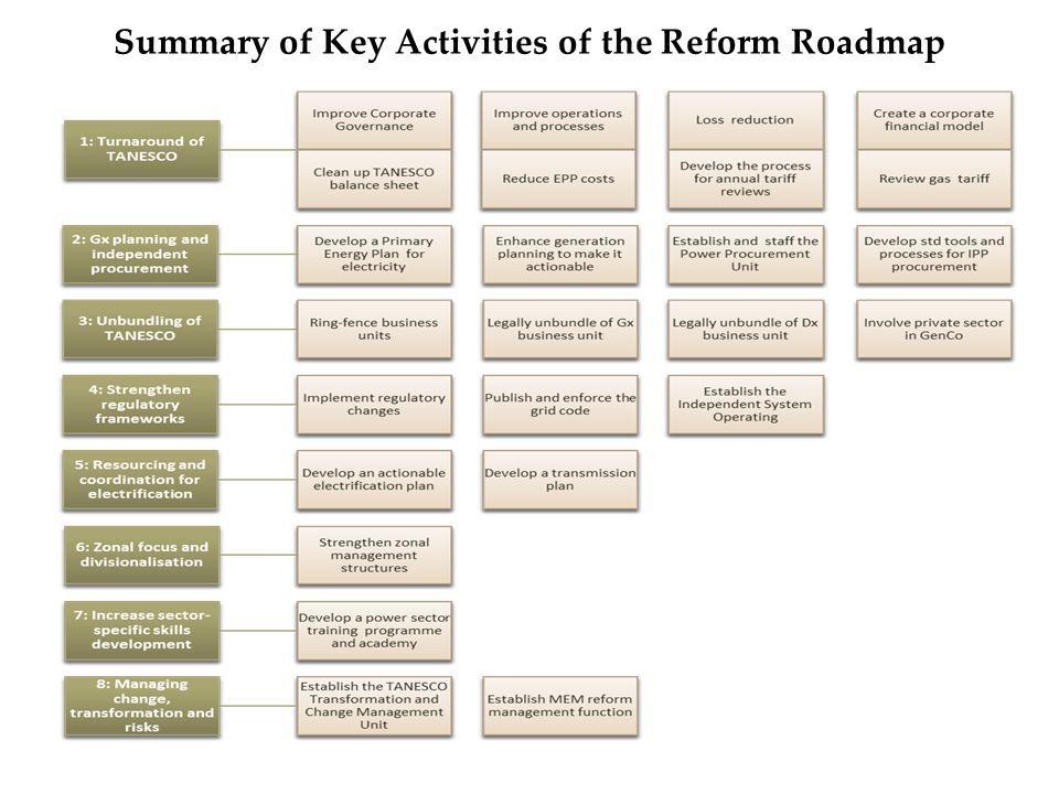 Summary of Key Activities of the Reform Roadmap