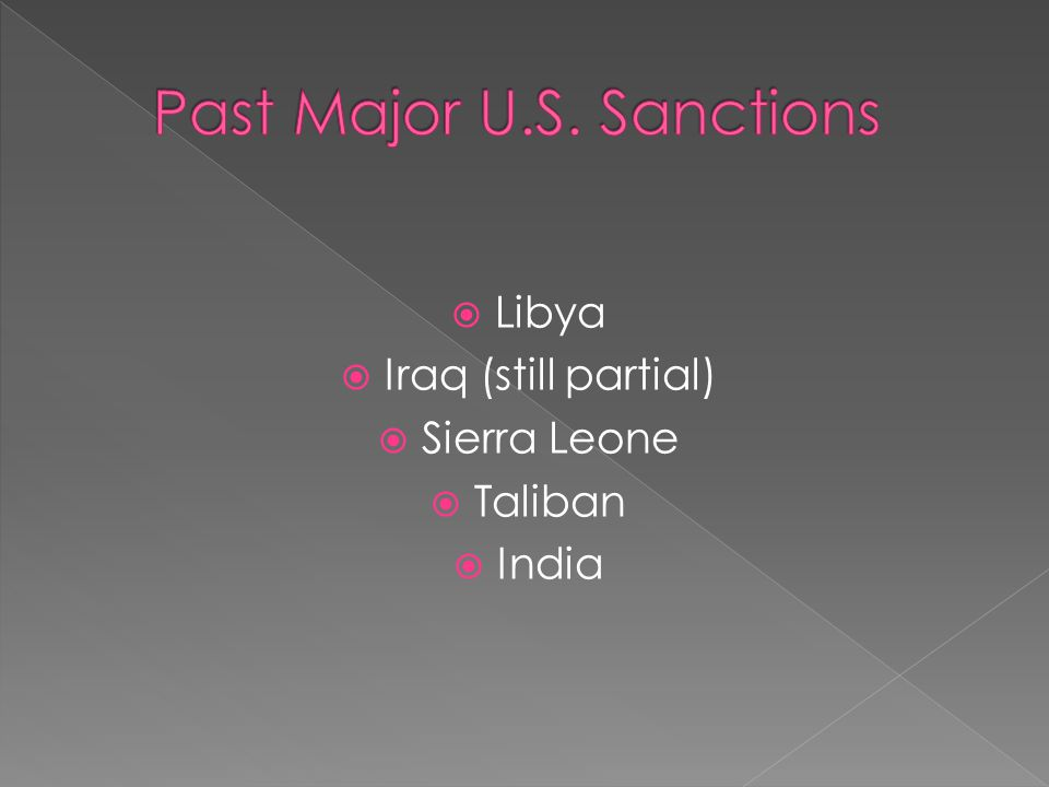  Unitleral Trade Sanctions. Center for Trade Policy Studies: CATO Institute.