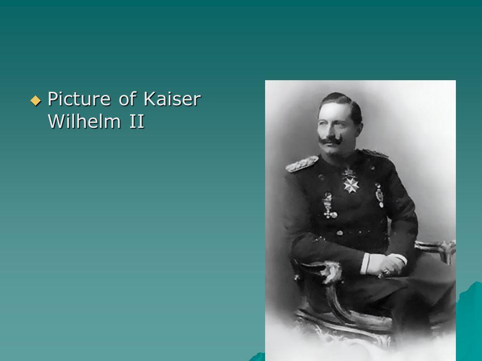  Picture of Kaiser Wilhelm II