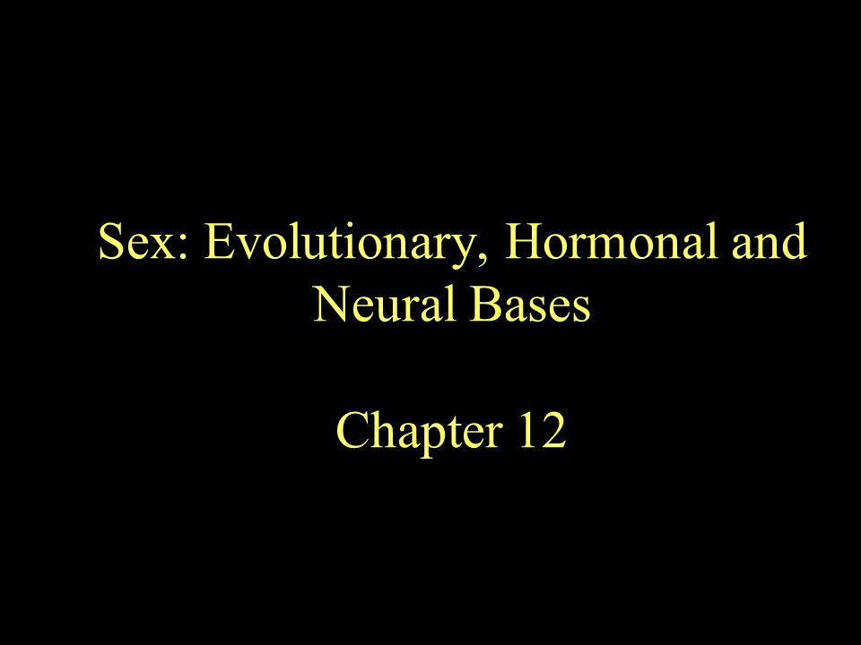 Why Sex.