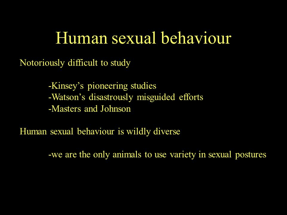 Hormones play a permissive role in our sexual behaviour There must be some testosterone for male sexual behaviour to occur, but there is no correlation between testosterone levels and sexual interest or activity There have been many attempts to find differences in sexual interest or activity in women depending on hormonal milieu (eg.