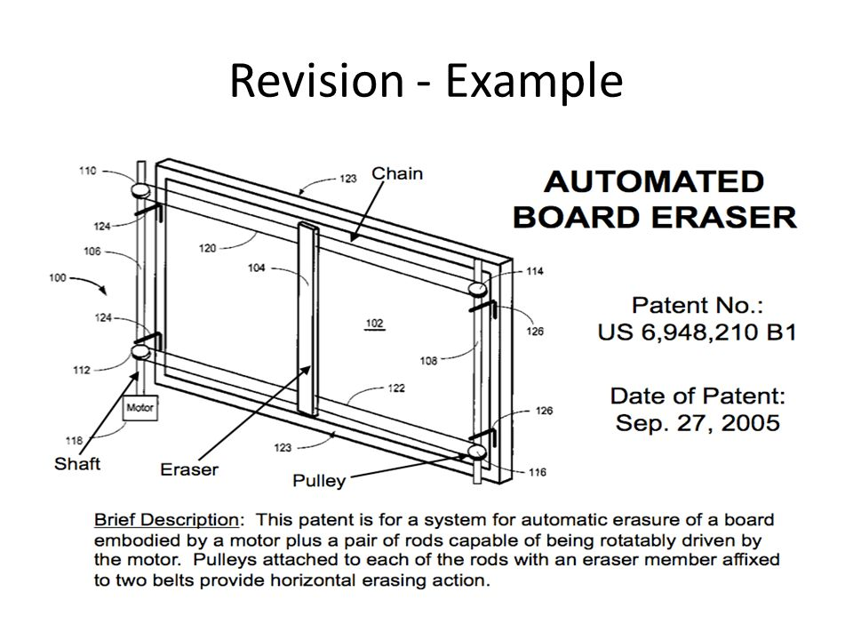 Hinged Chain-Drive Felt Whiteboard Wiper This particular design concept utilizes a felt wiper mounted on a circular shaft fixed to the end plates for the eraser mechanism along with a double spring hinge at top and bottom for the mount.