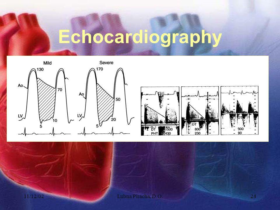 11/12/02Lubna Piracha, D.O.24 Echocardiography