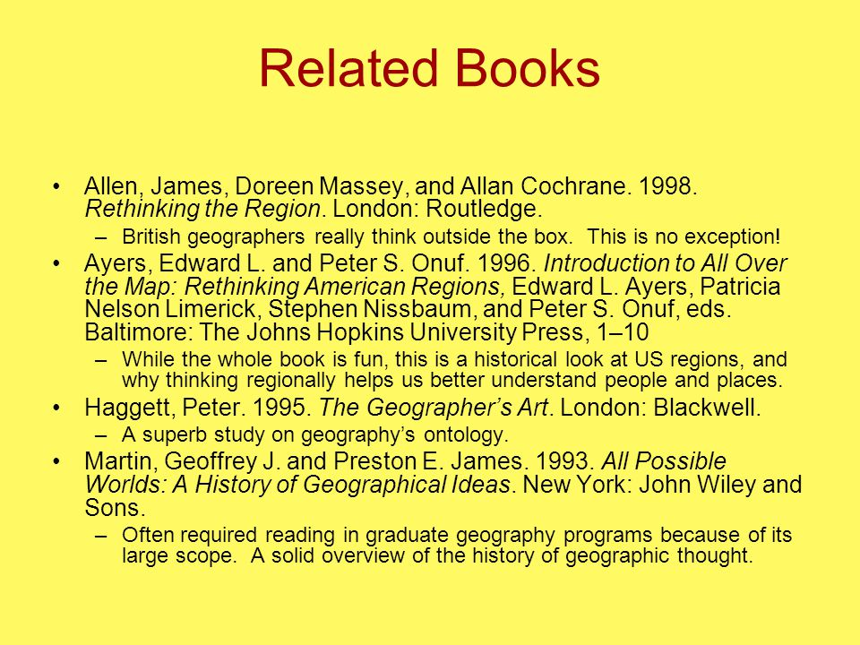 Related Books Allen, James, Doreen Massey, and Allan Cochrane.