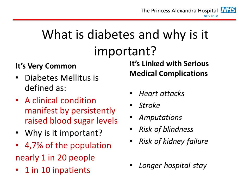 What is diabetes and why is it important.