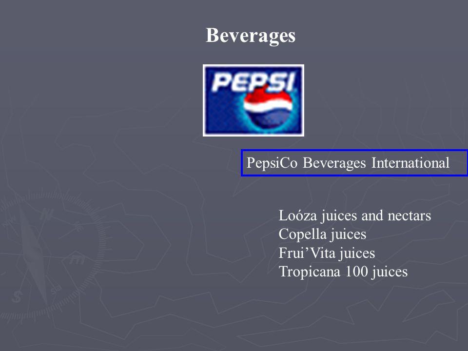 Beverages Gatorade/Tropicana North America Gatorade Propel Tropicana Dole juices