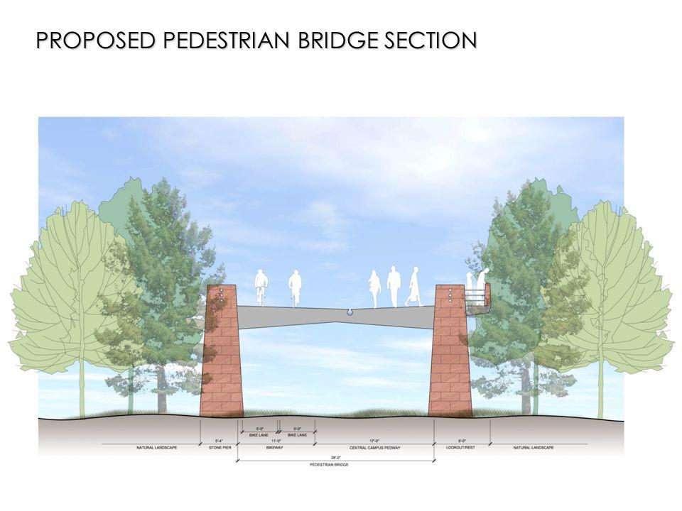 PROPOSED PEDESTRIAN BRIDGE SECTION