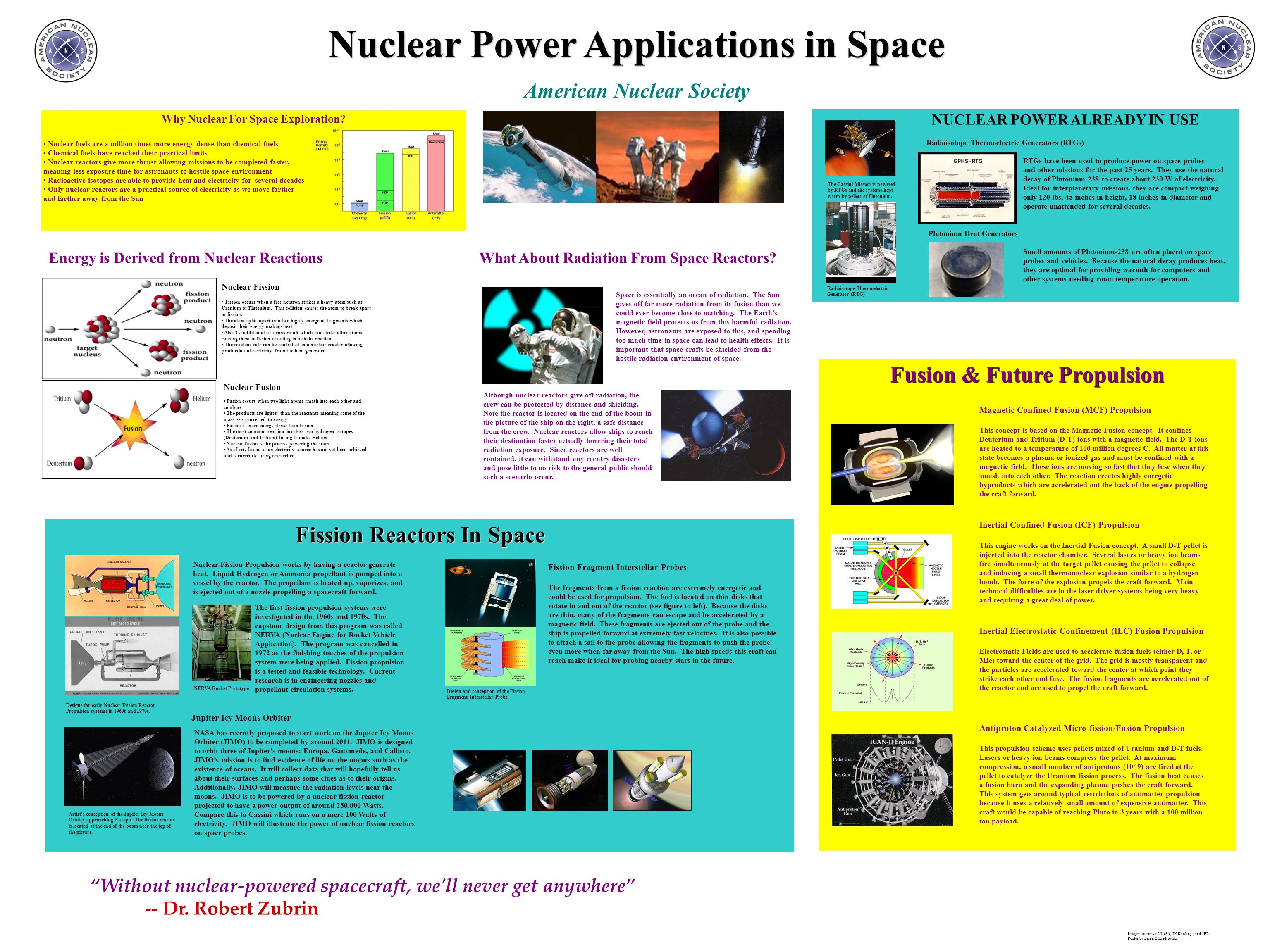 Nuclear Power Applications in Space American Nuclear Society Why Nuclear For Space Exploration.