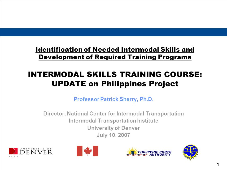 Intermodal Transportation Institute University of Denver 12 Technical Assistance Provided by our extensive industry contacts and ITI board members Lindsay E.