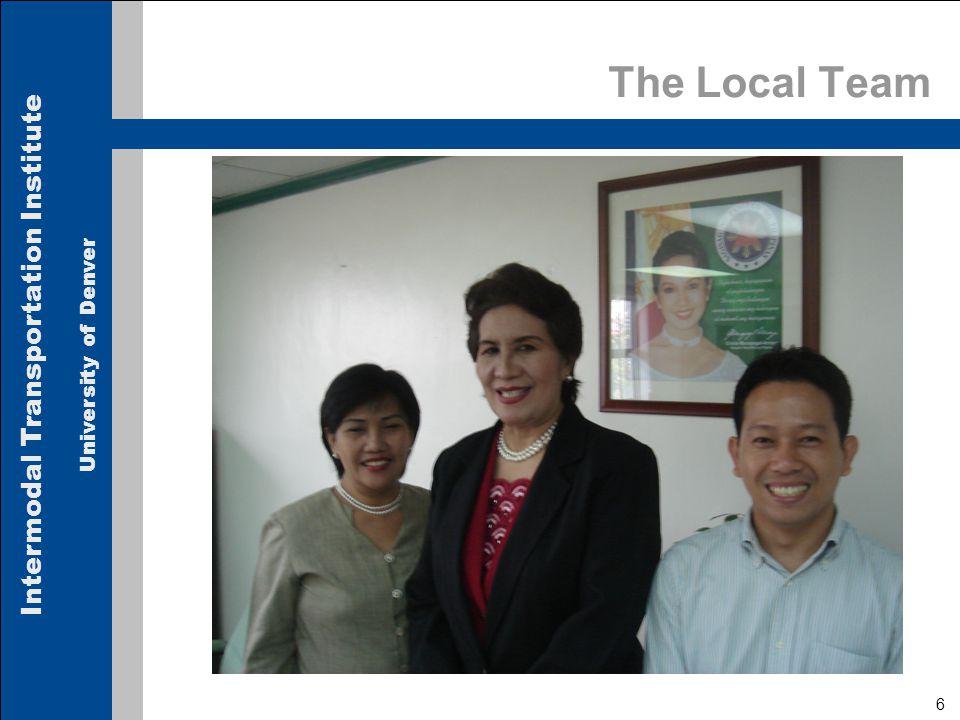 Intermodal Transportation Institute University of Denver 37 Local Case Study – Jakarta  Visit to JIT