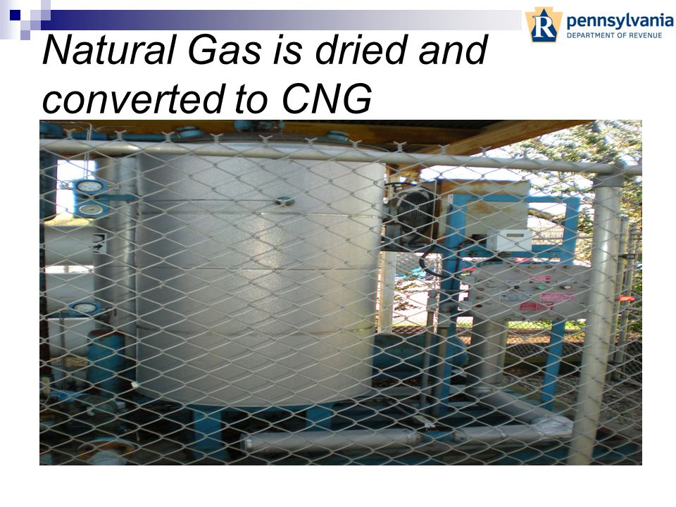 Natural Gas comes into the line without pressure. It is not until it goes through the compressor to become Compressed Natural Gas (CNG) that it become