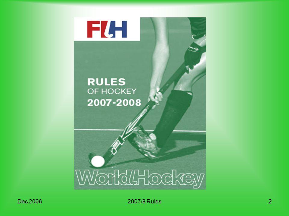 Dec 20062007/8 Rules2