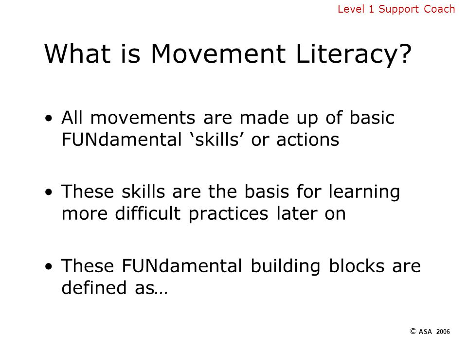 What is Movement Literacy.