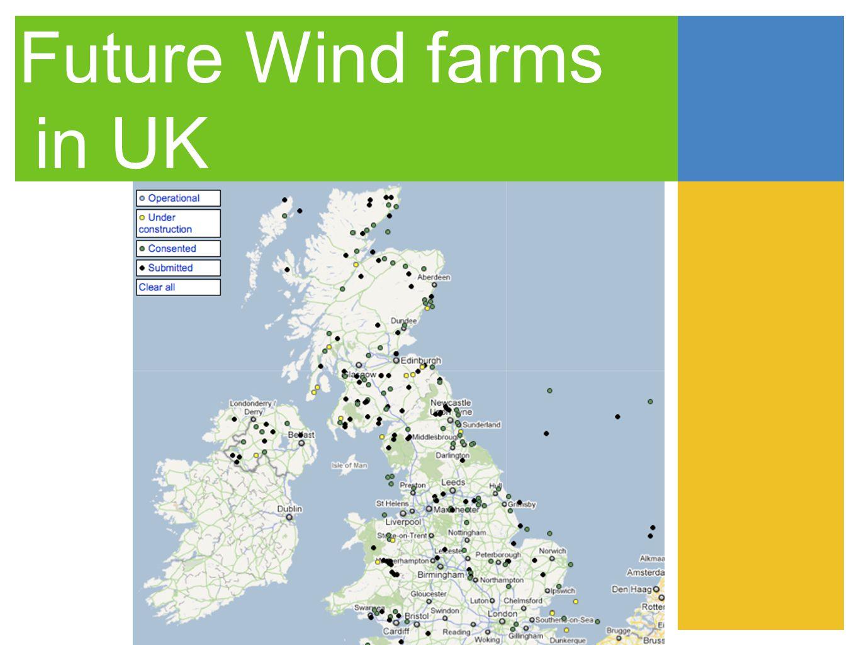 Future Wind farms in UK