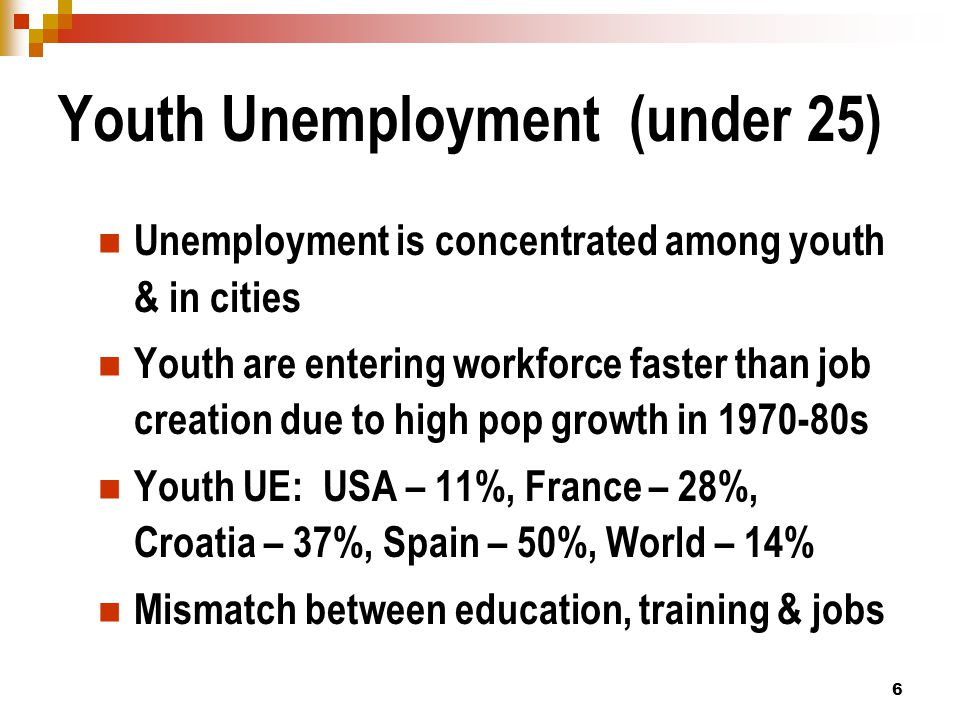 7 Impact of Aging on Employment Significant labor and skill shortages will develop in OECD countries Working age population is declining in OECD countries -- 8% in EU25 by 2030 – could result in labor shortage of 70-150 M in EU15.