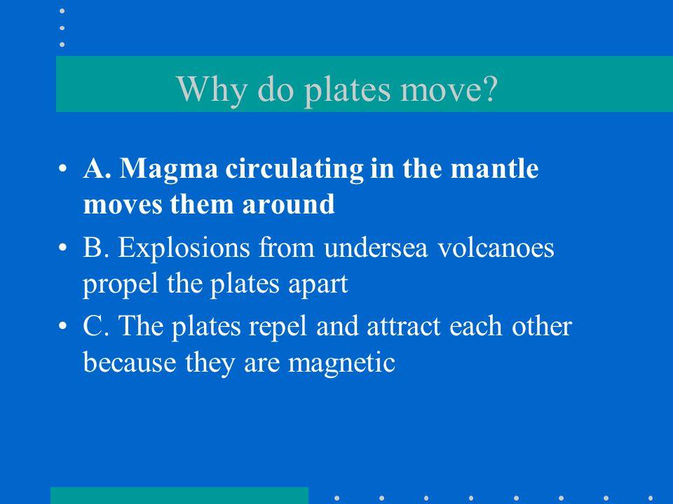 Seamounts and Plate Movement