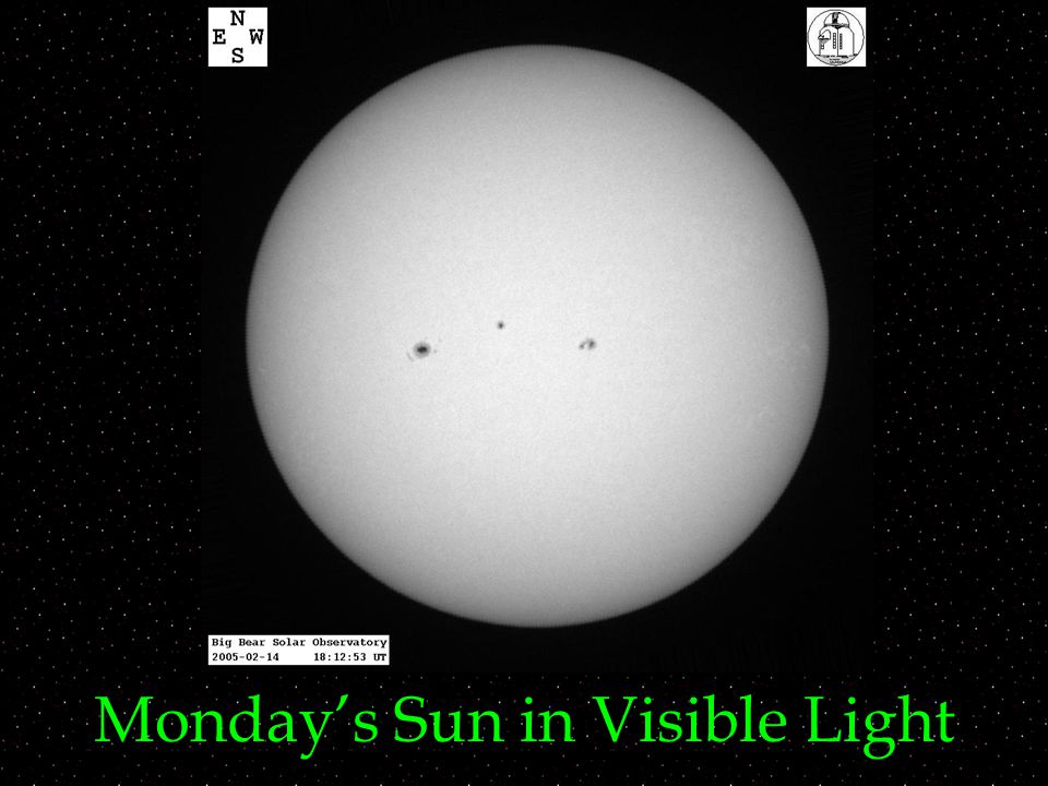 Monday's Sun in Visible Light