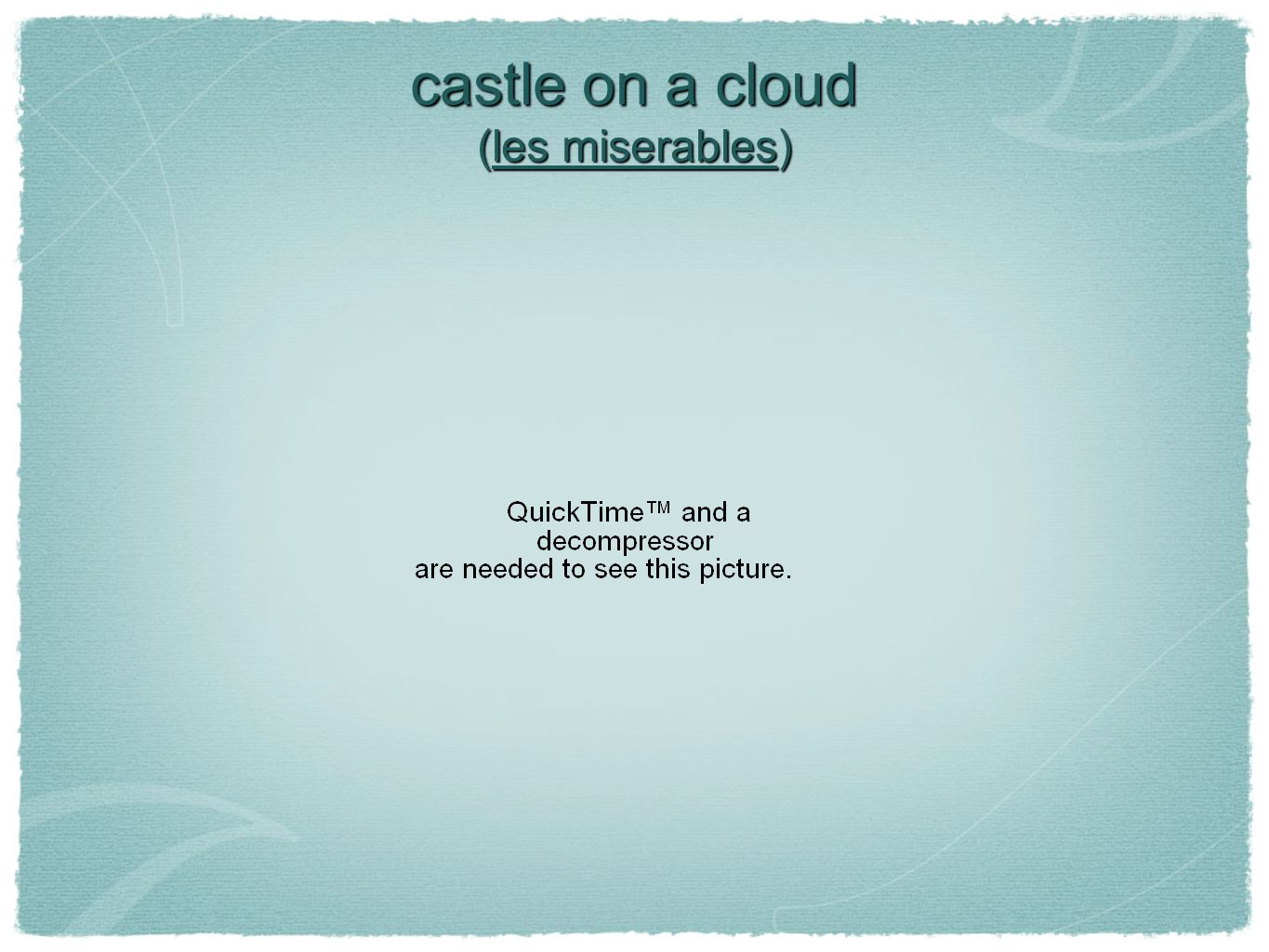 castle on a cloud (les miserables)