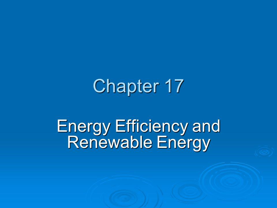 Chapter 17 Energy Efficiency and Renewable Energy