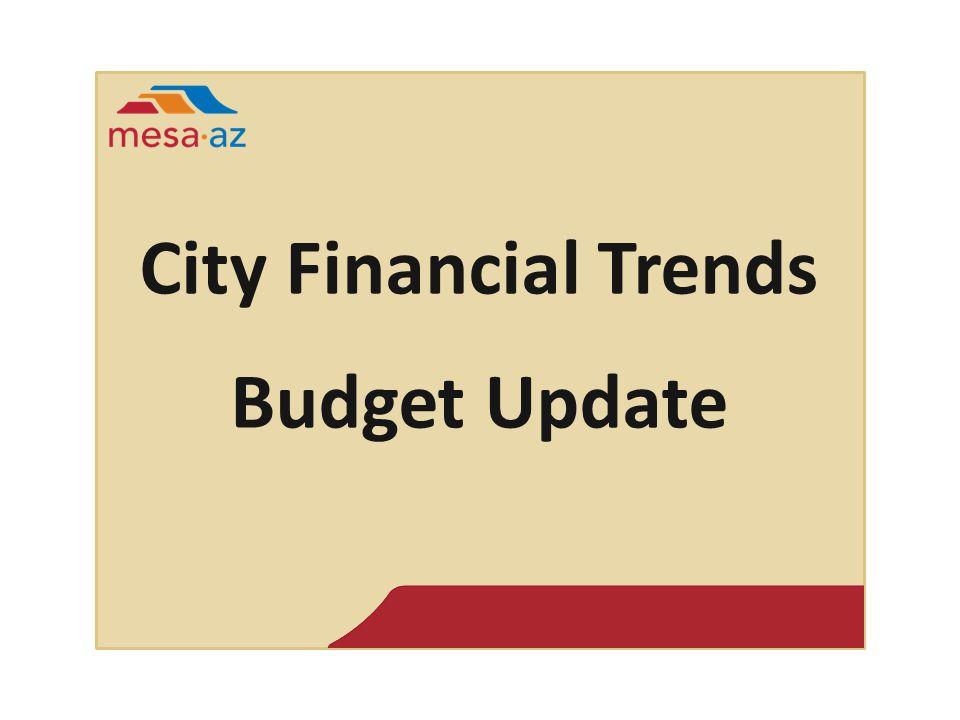 City Financial Trends Budget Update