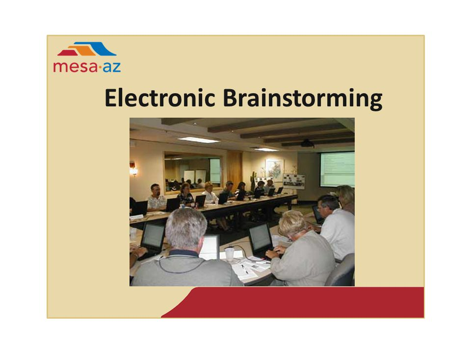 Electronic Brainstorming