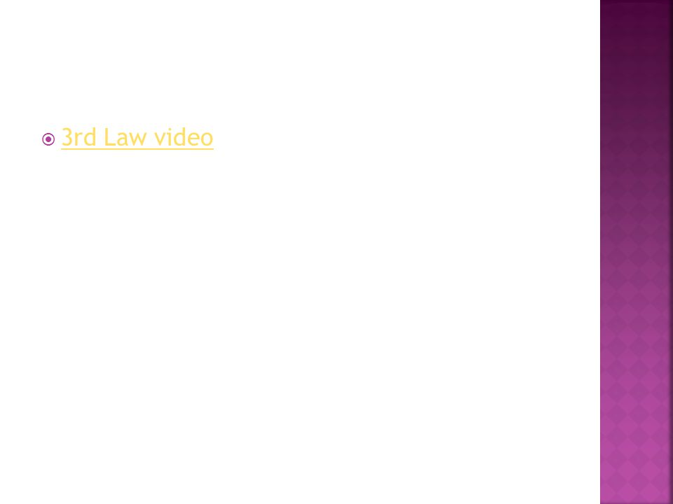  3rd Law video 3rd Law video