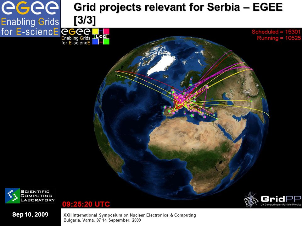 Sep 10, 2009 Grid projects relevant for Serbia – EGEE [3/3] XXII International Symposium on Nuclear Electronics & Computing Bulgaria, Varna, 07-14 Sep