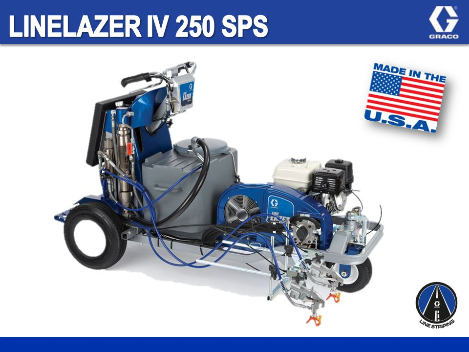 LineLazer IV – Advanced striping system Self-Propelled Automatic High performance