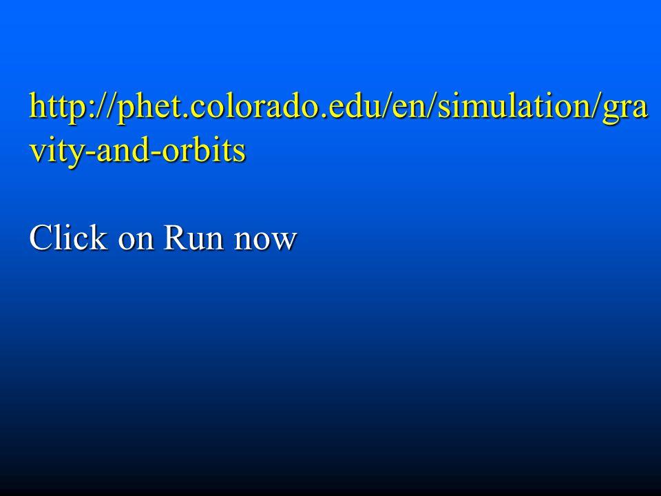 http://phet.colorado.edu/en/simulation/gra vity-and-orbits Click on Run now