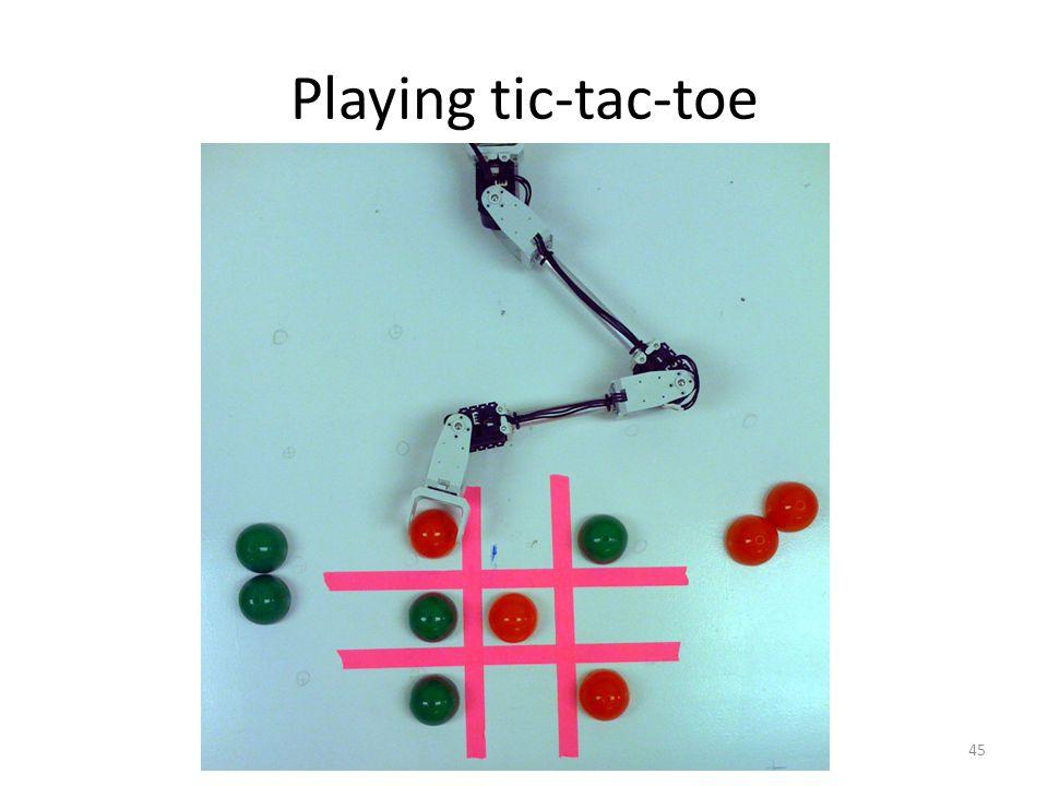 Playing tic-tac-toe 45