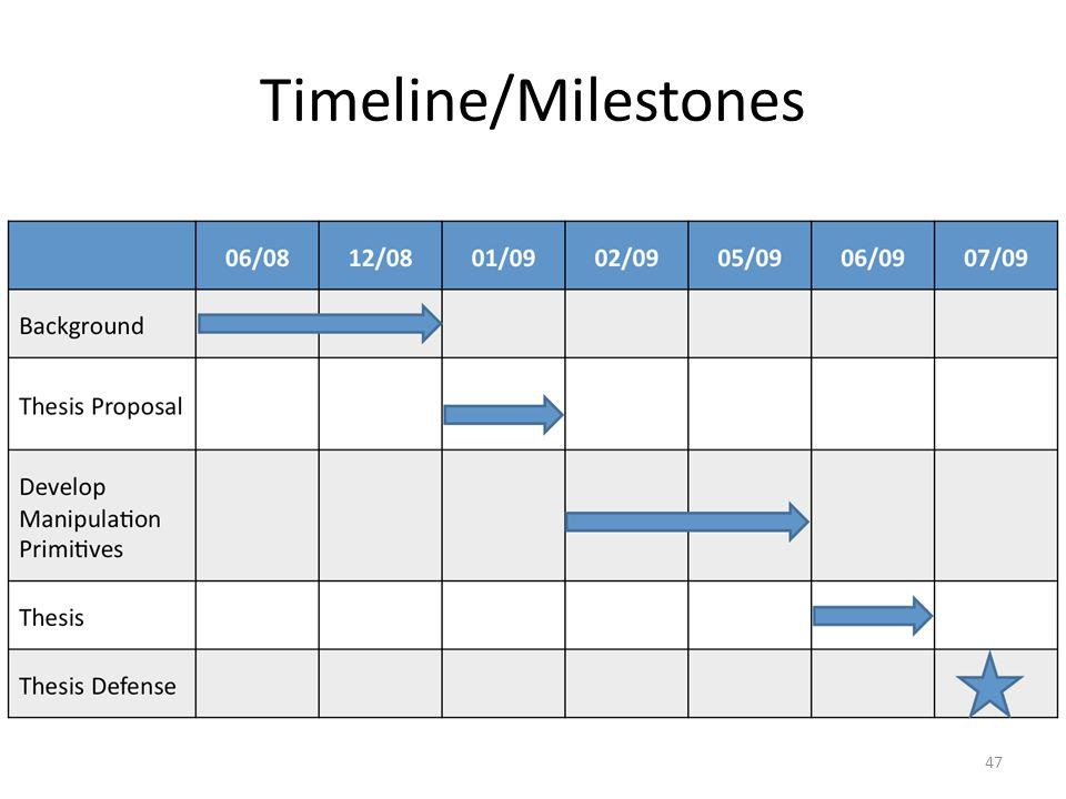 Timeline/Milestones 47