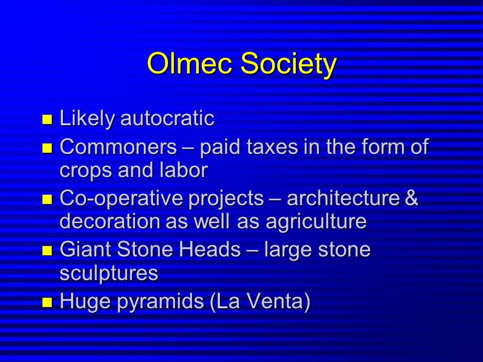 Decline of the Olmecs n By 400 BCE – Olmecs in decline n Demise still uncertain n Intentional destruction of ceremonial centers n Revolution ?, civil war ???, invasion???.