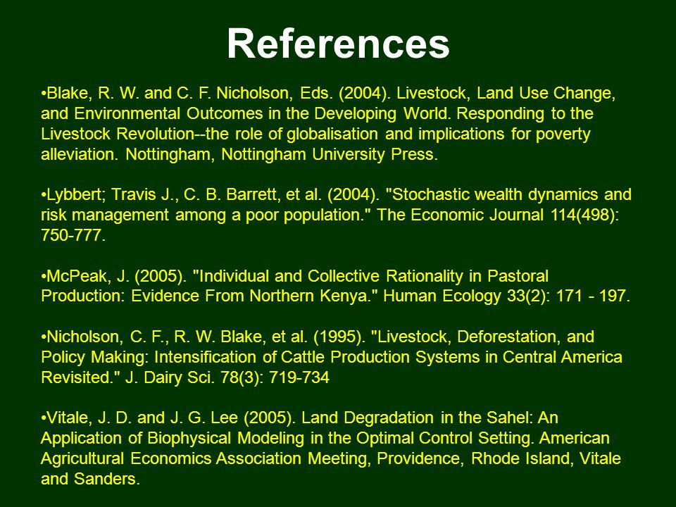 References Blake, R. W. and C. F. Nicholson, Eds.