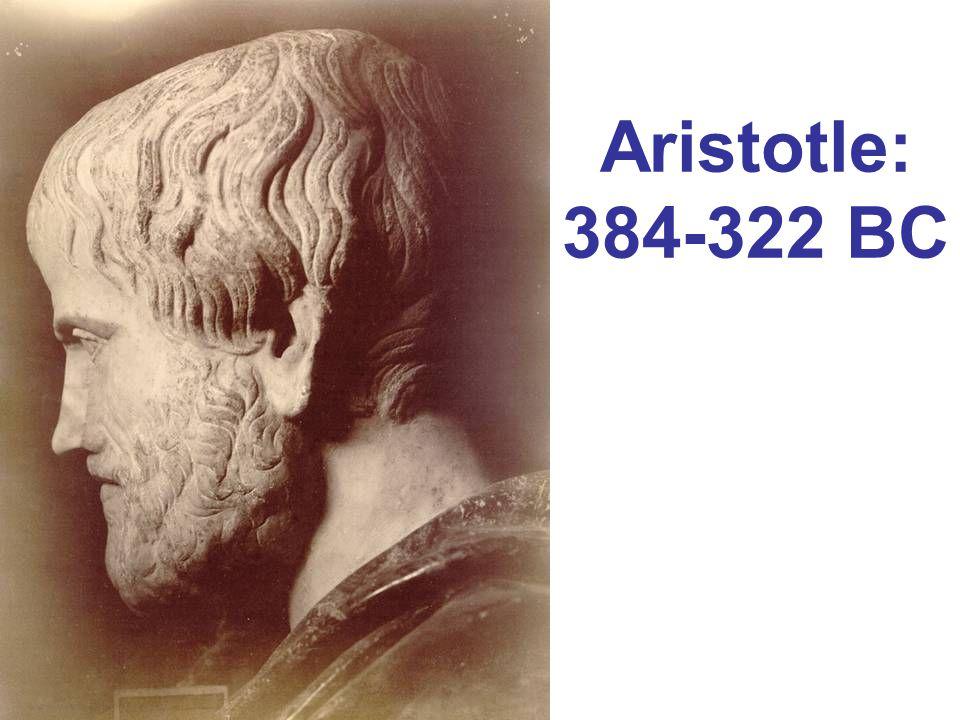 Aristotle: 384-322 BC
