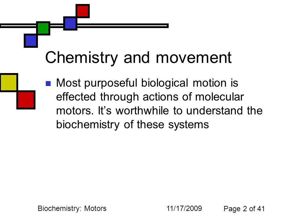 11/17/2009Biochemistry: Motors Page 23 of 41 iClicker question 2 2.