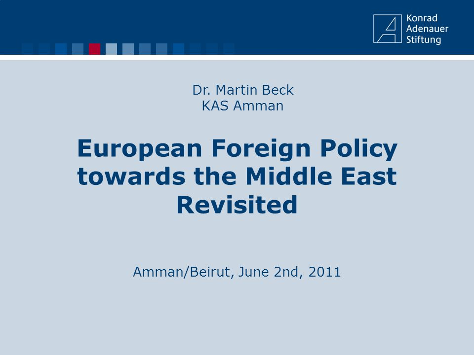 Content 1.Introduction 2.The European approach towards the Middle East since the 1970s 3.Why did the EU policies towards the Middle East not match the ideals of a Civilian Power.