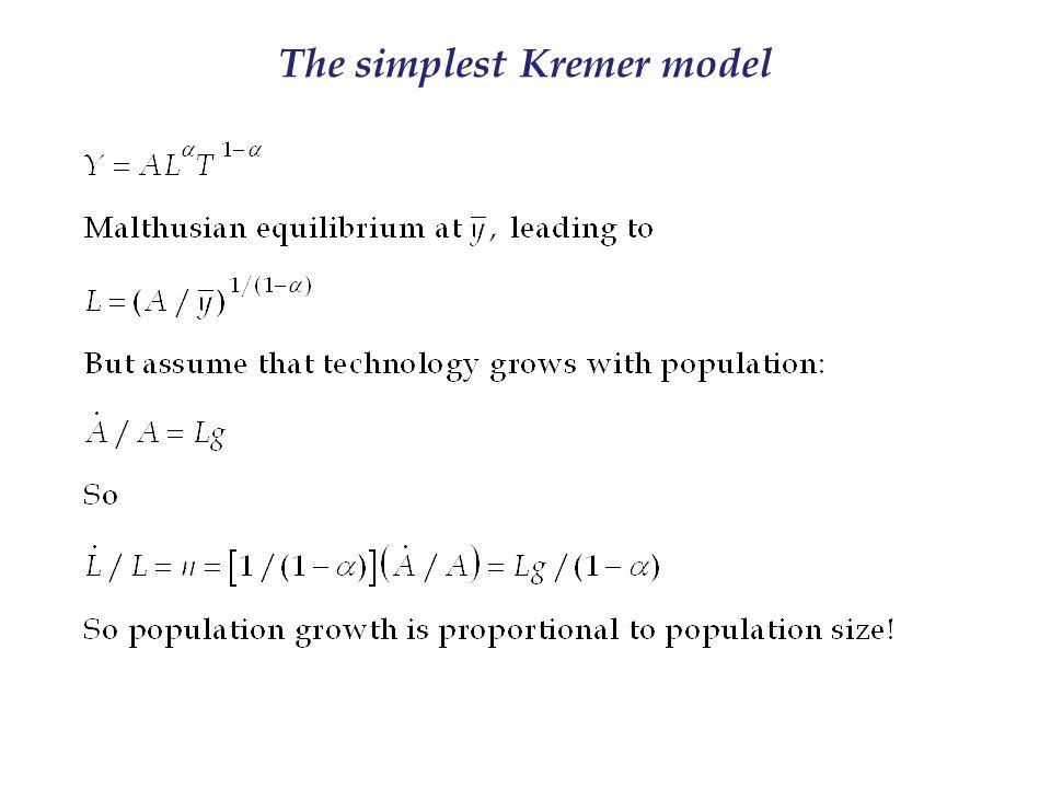 The simplest Kremer model