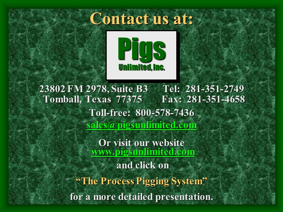 Contact us at:. 23802 FM 2978, Suite B3 Tel: 281-351-2749 Tomball, Texas 77375 Fax: 281-351-4658 Tomball, Texas 77375 Fax: 281-351-4658 Toll-free: 800