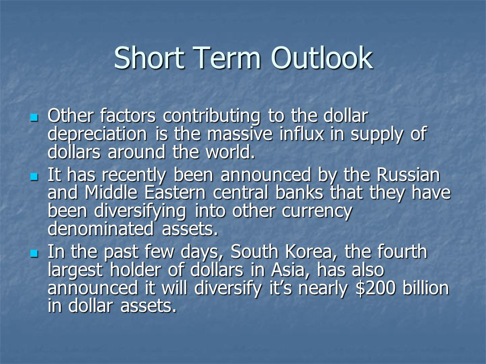 Short Term Outlook Another factor that could further exacerbate the situation is that the Treasury announced that today, February 23 rd, they will sell an additional $24 bn in two- year Treasury notes.