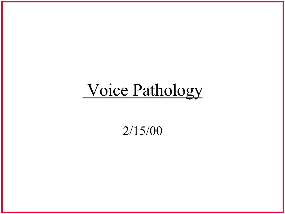 Category 1 Vocal Pathologies Secondary to Vocal Abuse & Misuse